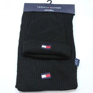 Tommy Hilfiger Men's Logo Hat & Scarf Set M881